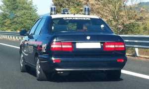 carabinieri auto superstrada