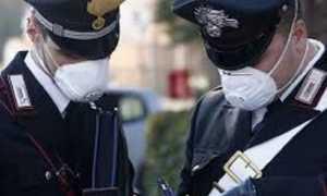 carabinieri mascherine coperte