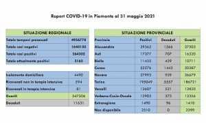dati covid 31 mag
