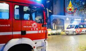 vigili del fuoco notte intervento